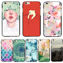 Hard PC Cover For Apple iPhone 5 5S SE 6 6S 6Plus 6S 7 7+ Cases Phone Wholesale Price Painted Dream Butterfly Clouds Sunset