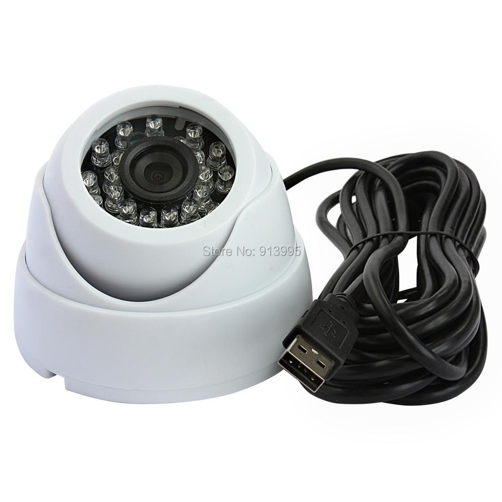 1MP 720P Webcam OV9712 CMOS H.264 MJPEG YUY2 mini IR CUT night vision dome cctv usb surveillance camera<br>