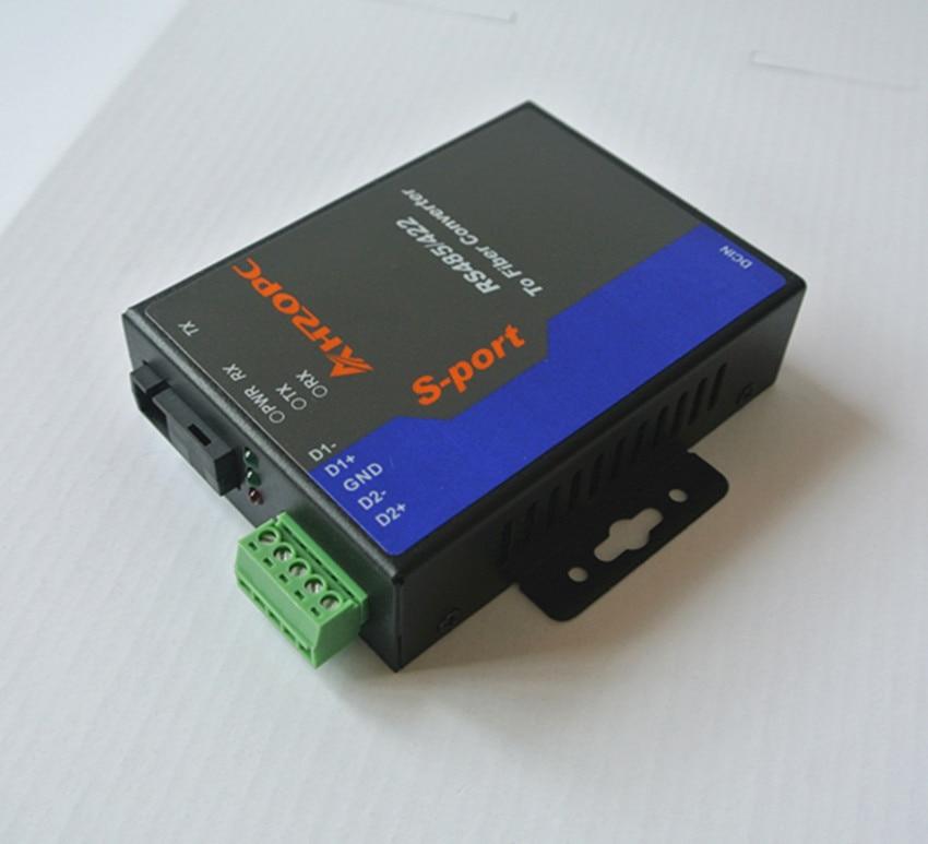 2 485 RS485 bidirectional optical fiber transceiver industrial serial optical fiber SC cat<br>