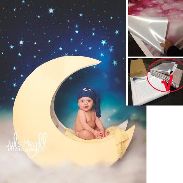 5X7ft(1.5x2.2m) Studio photo studio newborn photography backdrop background digital printing stars and clouds wallpaper D-8899<br>