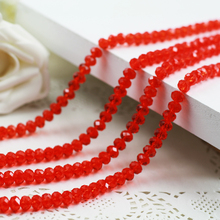 5040 AAA Top Quality light siam color loose Glass Rondelle beads .Free Shipping! 2mm 3mm 4mm,6mm,8mm 10mm,12mm