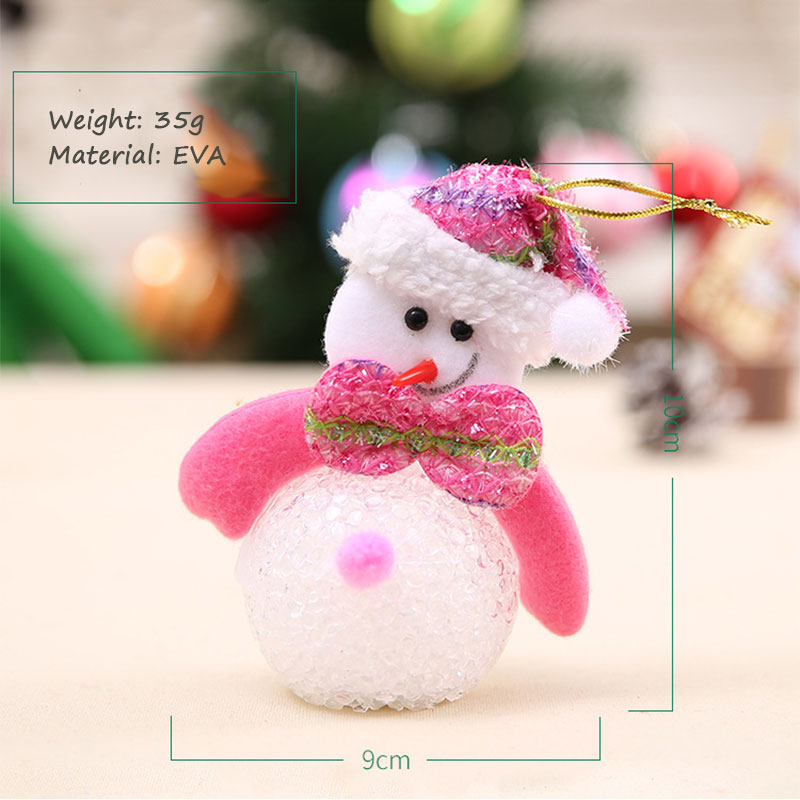 New Year Christmas Decoration for Home accessories Glowing EVA Snowman Nightlight Snowman Christmas Tree gifts Navidad Natal (15)