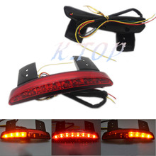 Moto Red LED Chopped Fender Edge Tail Brake Running Stop Light &Turn Signal For Harley Sportster XL883 1200 48 2004-2013 Custom