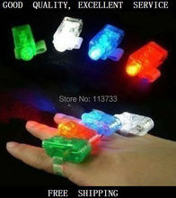 200pcs/lot LED Finger Light 4 Colors Laser Finger Ring For Party Decoration Colorful Christmas Gift M5525