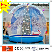 custom gemmy giant outdoor inflatable christmas decorations clear party fake snow globe ball spheres manufacturers for sale(China)