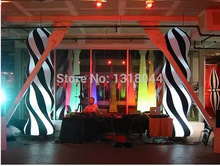 3m charming colorful led inflatable pillars with base for wedding/party/night club