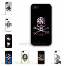 HOT Sale Skull Case Hard Plastic Cell Phone Cover for Apple iPhone 5S 5 5G (Black/White Border) 2015 New Design