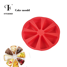 1pc 8 triangle Round shape Silicone Muffin Cases Cup Cake Cupcake Liner Baking Mold Cakes Bakeware  Kicthen Cooking Gadget Tools