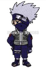 "3.5"" Naruto Kakashi Standing Figure Logo Patch tv movie series Embroidered Iron on Badge cosplay Halloween Costume"