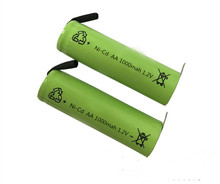 2Pcs Ni-Cd AA 1.2V 1000mAh Rechargeable Battery Nickel Cadium cell 14*49mm US(China)