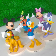 Disney Toys 6pcs/Set 7-9cm Mickey Mouse Plastic Toy Figures Daisy Donald Duck Goofy Minnie Home Decoration Model Children Gifts