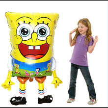 Giant 36 Inch Sponge Bob aluminium foil balloons and for spongebob party decor supplies inflatable helium balloon(China)