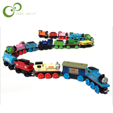 Wooden Magnetic Thomas Circus Train Donald Lady Gordon Friends Lorry Track Railway Vehicles Diecast Toys for children(China)