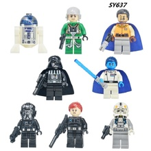 Building Blocks Darth Vader TIE Fighter Pilot Grand Admiral Thrawn Lightsaber Chewbacca Star Wars Bricks Kids Toys SY637 - Minifigures store