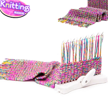 Fashion Scarf Knitting Machine Knitting Loom Knit Tool Child Educational Knitting Wool Yarn Woven Toys(China)