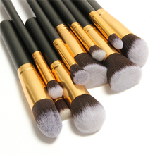 10 Pcs Professional Make up Brushes Set Make up Brushes Kit(China)