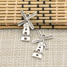 Buy 10pcs Charms windmill winnower 37*16mm Tibetan Silver Plated Pendants Antique Jewelry Making DIY Handmade Craft for $1.37 in AliExpress store