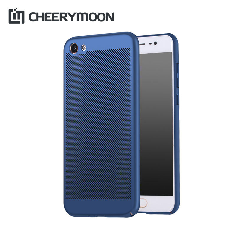 CHEERYMOON Dissipate Heat Ventilated Phone Case For VIVO X9 X7 X6 Plus V5 V3 Max Y67 Y66 Y55 Y53 Y51 Y35 Hard Back Shell Cover(China (Mainland))