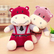 large size 38-58cm Hippos cloth doll hippos plush toys baby pillow birthday gift 2017 New style stuffed plush animals doll(China)