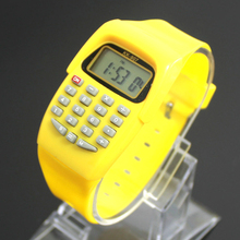 FXSUM Fashion Digital Calculator With LED Watch Function Casual Silicone Sports For Kids Children Multifunction Calculating