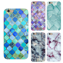 For Apple iPhone 7 6 6s Plus 5 5s SE 4 4S Case New Style Geometric Graphic Pattern Marble Mobile Soft TPU Case Phone Coque Funda
