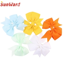 SunWard Good Deal New Fashion Lady Women 5PCS Girl Baby Bow Hair Clip Grosgrain Ribbon Boutique Bowknot Hairpin Gift 1Set
