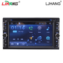 2 din android Quad Core car dvd auto radio navigation for Universal captiva 2din steering wheel Rear View Camera WIFI 3G BT IPOD(China)