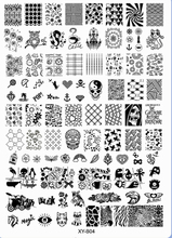 New Fashion Acrylic Nail Art Stamping Plates Stamping Template Skull OWL Eagle Penguin Animal Polish Nail Stamping Plates XY-B04