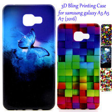 3D Luxury Glitter Phone Case sFor Samsung Galaxy A3 A5 A7 2016 SM-A710F A310F SM-A510F Utral Slim Soft Silicone TPU Back Cover(China)