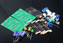 One Pair PASS 5W Single-ended Class A FET + MOS Power Amplifier Kit DIY AMP 5W + 5W(China)