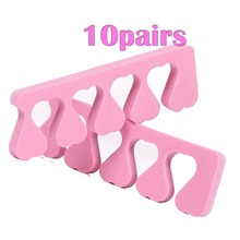 20pcs (10 Pairs) Soft Toe Finger Separators Set Feet Care Sponge Foam Finger Nail Art Salon Pedicure Manicure Tool Toe Separator