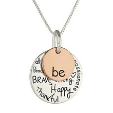 "New Arrival Two-Tone Women's Two-Tone ""Be"" Graffiti Charm Pendant Necklace Sister Friendship Gift(China)"