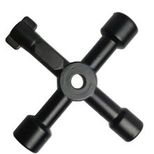 1Pc Universal Triangle KEY Cross 4 Way Black Utility Multi Cross Wrench For Gas Electrical Elevator Cabinet Meter Box