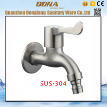 Free shipping 304 stainless steel washing machine mixer tap with brushed surface washing machine faucets