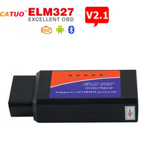 CATUO 2017 Promotion Car Styling ELM327 Bluetooth ELM 327 V2.1 Interface OBD2 / OBD II Automobiles Diagnostic Scanner HOT