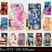 For HTC 620 820mini Case Hard Plastic Mobile Phone Cover Case DIY Color Paitn Cellphone Bag Shell