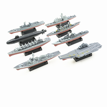 SAINTGI Assembled Battleship Aircraft Cruiser Boats 4D DIY Kits PVC 15CM Model Puzzle Plastic Assembling Military Toys(China)