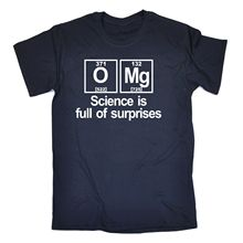 OMG Science Is Full of Surprises T-SHIRT Tee Geek Funny Birthday Gift Present New Tops 2017 Print Letters Men T Shirt
