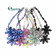 5 Colors Glitta Jewelry Women Crystal Flowe Necklace New Arrival Italy Roma Style Ribbon Geometric Choker Necklaces Fashion