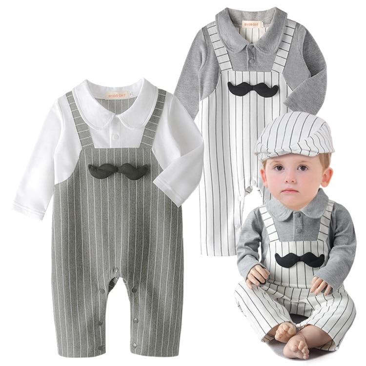 Hot Baby Boys Clothes Kids Infant Gentleman Mustache Newborn Romper Bebe Infantil Jersey Playsuit Children Clothing<br><br>Aliexpress