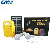EASUN POWER Portable Solar Power Generator Solar Home System Mini 3W Solar Panel 6V-4.5Ah Lead-acid Battery LED Lighting System(China)