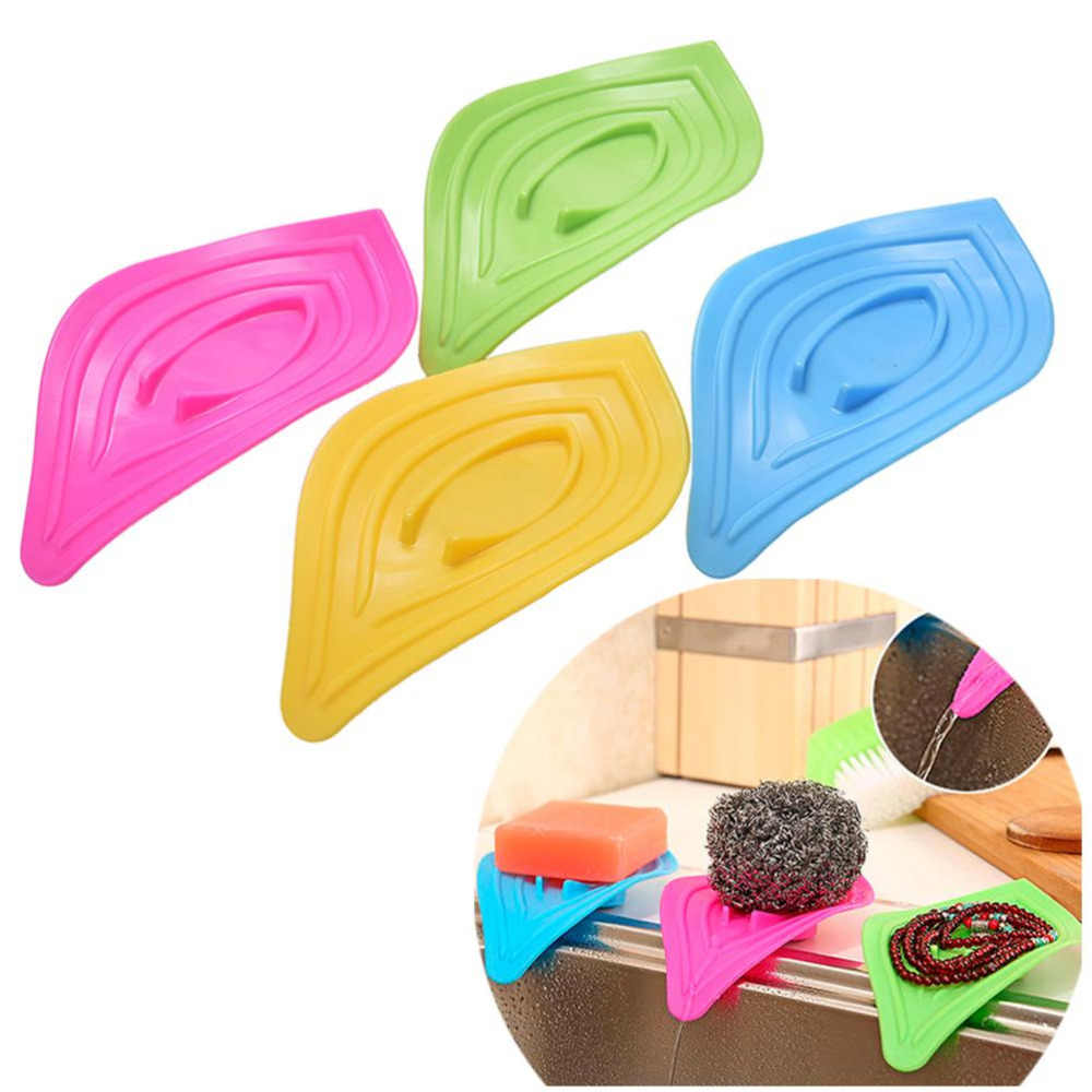 Hot Selling multifunctional slip ring leaves soap box drain and clean soap dishes kitchen sink sponge holder soap dishes