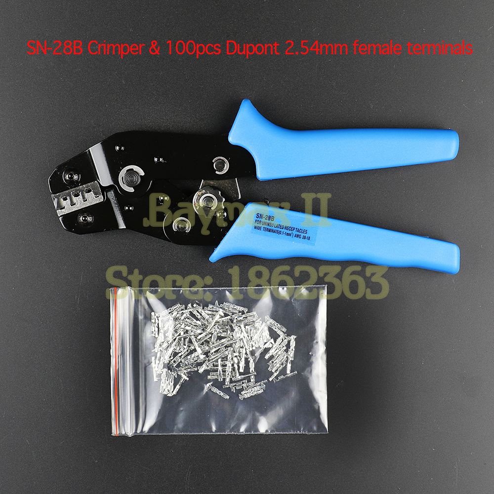 Dupont Pin Crimping Tool 2.54mm 3.96mm KF2510 28-18 AWG Crimper 0.1-1.0m㎡