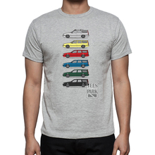 Casual Car Pattern T Shirt Turbo Wagons Men's Cotton Volvo 850 V70 T5 Short Sleeve Round Neck T-Shirt Trendy Tee Funny Clothing