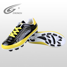 Football Shoes For Children Breathable Black Lace Up Chuteiras Soccer Cleats PU Leather Football Boots Botas De Futbol Chuteira