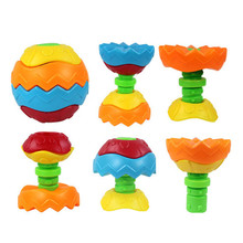 3D Puzzle Balls Toy Funny Baby Kids Colorful Grasping Ball Assembly Early Educational Toys(China)