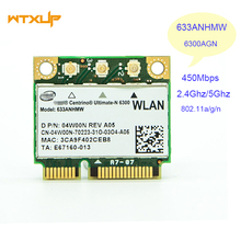 Ultimate-N 6300 633ANHMW Dual Band 450Mbps Half Mini PCI-E wifi Adapter Wireless Wlan Card for Intel Centrino 6300AGN(China)