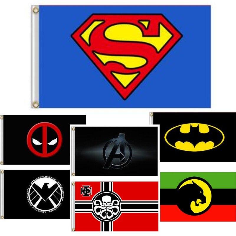SUPERMAN FLAG BANNER 3X5FT MARVEL COMIC ACTION SUPER HERO SUPER MAN