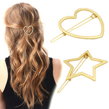 New Arrival 1PC Fashion Sweet Korean Women Star/Heart Hair Clip Hair Pin Hair Delication Hair Jewelry(China)