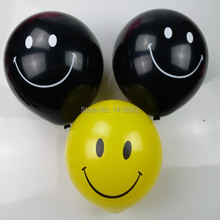 100pcs 12 Inch Giant Smile Balloon yellow black Premium Helium Quality  Weddings and parties Creative decoration balloons